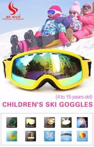 i NEED THAT!!! Kids Double Lens UV400 Anti-fog Ski Snow Glasses Free Shipping
