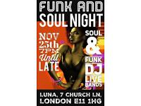 Soul and Funk night and Jam