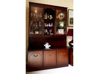 Superb Display Cabinet with Cupboards Under