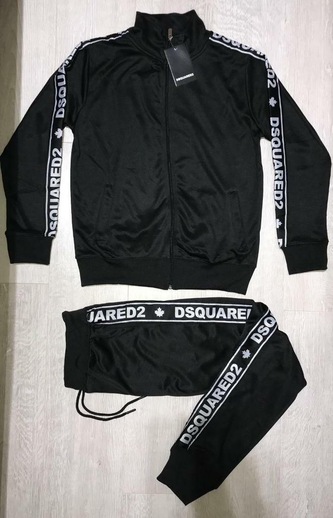 DSQUARED2 Tracksuit Top And Bottom Dark Blue Colour
