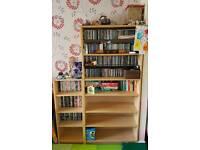 Ikea Billy bookcase arrangement in birch