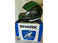 Kawasaki jacket M. Shark helmet M. New leather gloves L.