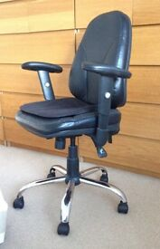 Black and Chrome Office Chair