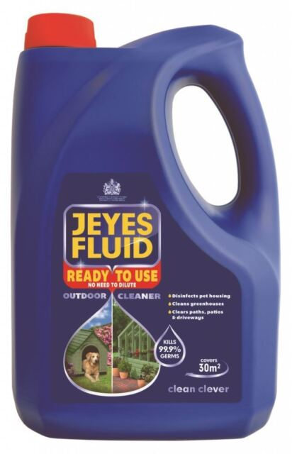 Jeyes Fluid Outdoor Disinfectant Fluid Pet Housing Stables Path Patio Cleaner 4L