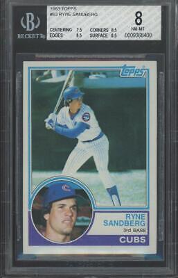 1983 Topps #83 Ryne Sandberg RC Rookie BGS 8