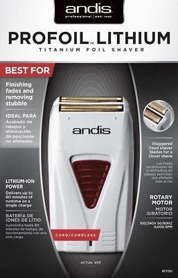 Andis Profoil Lithium Titanium Foil  Shaver 17150 Mens Cordless Hypoallergenic