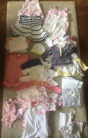 Baby Girl 0-3 Clothes Bundle