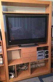 Tv unit stand drawers living room media