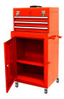 Top Chest w/ 3 Sliding Rolling Cabinet Tool Storage Chest Toolbox Mechanic