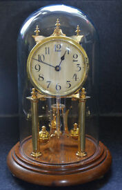 JUF Standard Early (Early Bracket) Anniversary 400-Day Clock with a Rare 3-Ball Pendulum Set-Up