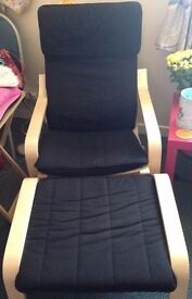 Two Ikea POÄNG Armchairs & Footstools - £30 for 1 Set or £55 for Both Sets