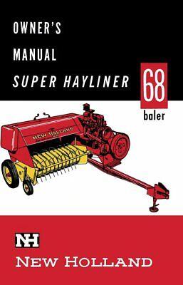 New Holland 68 Baler Hayliner Operators Owners Book Guide Manual Cd