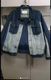 River Island men's Denim Jacket Long Sleeve Size m