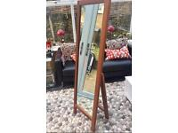 Habitat freestanding solid wood mirror