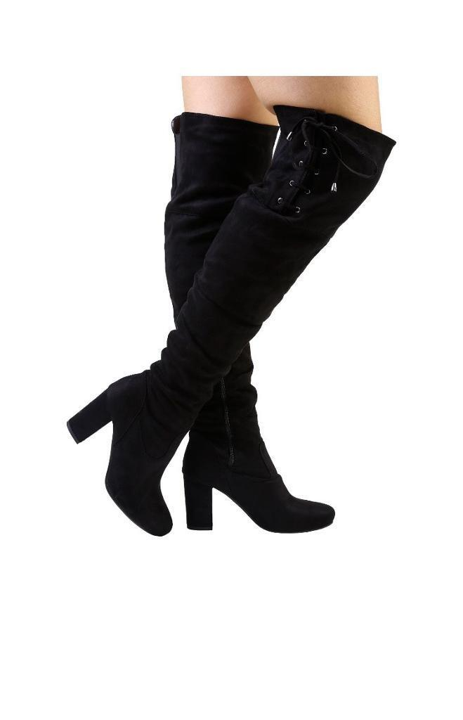 Brand new with tags suede black boots