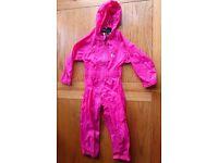Girls waterproof suit size 4 years 98-104 cm