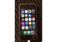 Apple iphone 5s unlocked grey/black cracked glass fully working