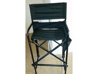 Used face or body paint makeup tall chair with NEW removeable upper & lower back straps& seat cover