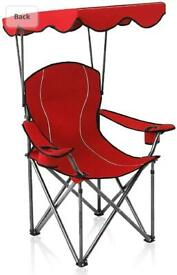 Garden chair with canopy