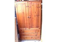 Pine Drawers/Cupboard/Wardrobe