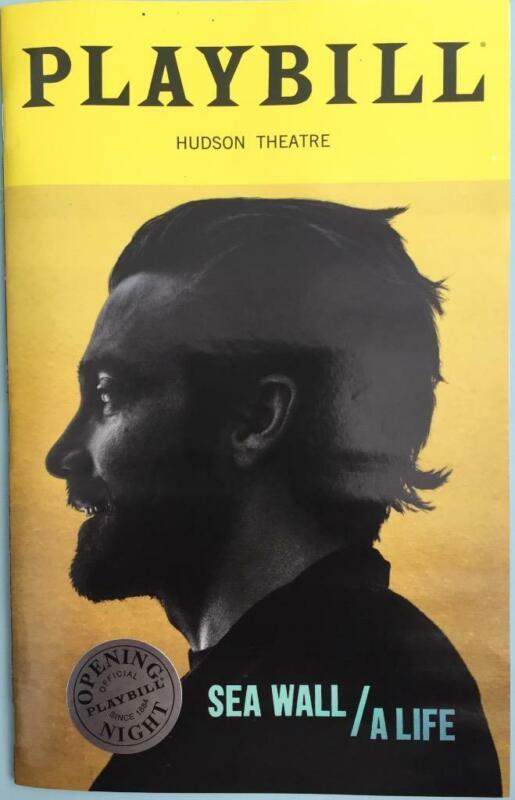 Sea Wall / A Life Open Nite Silver Seal Playbill Jake Gyllenhaal & Tom Sturridge