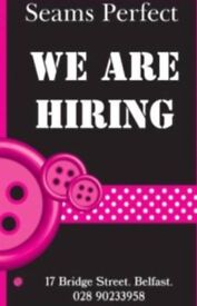 Part Time Dressmaker/Stitcher required for busy City Centre Alterations Shop