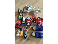 Various Power ranger toys