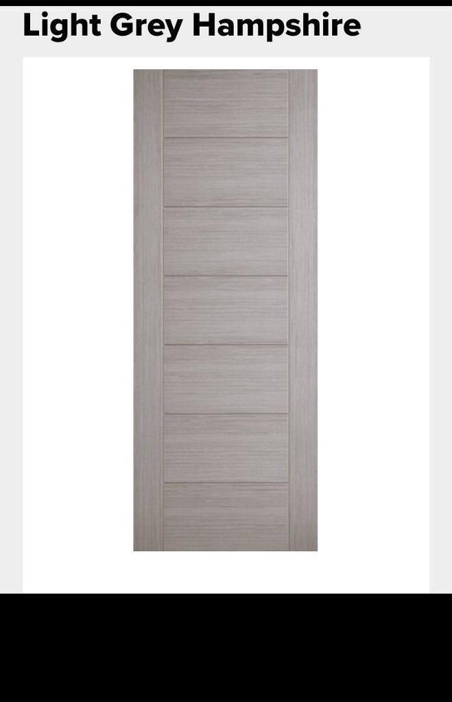 Interior Doors Light Grey Hampshire Doors In Headingley West