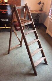 Vintage Wooden Step Ladders - Wedding Display- Shabby Chic Etc