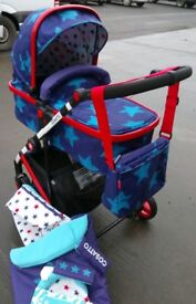 Cosatto Wish Starbright Pram/Pushcair in Excellent Condition REDUCED TO CLEAR!