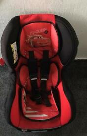 Disney cars car seat