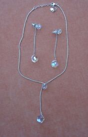 Swarovski Crystal Dropoper Necklace and Earrings