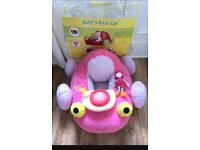 Baby girls pink sit me up car toy *immaculate*