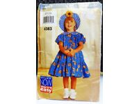 """"""" See & Sew by Butterick Girls Vintage Pattern 4383 """""""