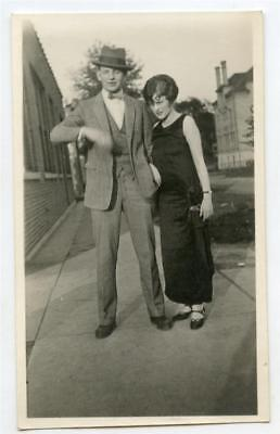 Couple Woman With Ringlet Curl Flapper Type Hairdo Vtg 1920s Photo (Flapper Hairdo)