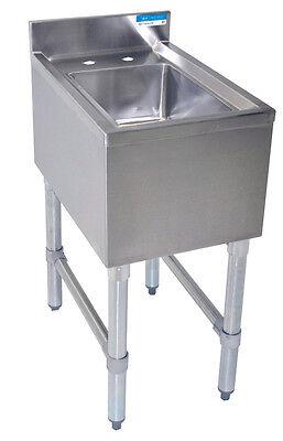 Bk Resources 12 Underbar Dump Sink With 4 Backsplash And 6 Deep Bowl
