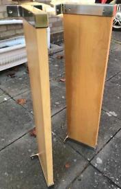 2 Ikea floating shelves.
