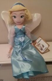 DISNEY STORE THE BLUE FAURY PLUSH SOFT TOY DOLL FROM PINOCCHIO WITH TAG