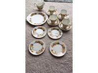 Queen Anne Crockery Set x 4 piece bone china