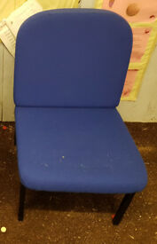 Pair of Blue Office Reception Chairs