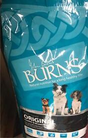 Brand new 15kg burns' dog food chicken and rice