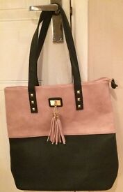 Ladies two tone tote bag - new without tags