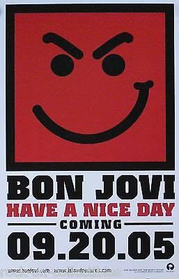 BON JOVI 2005 Have A Nice Day Original Promo Poster