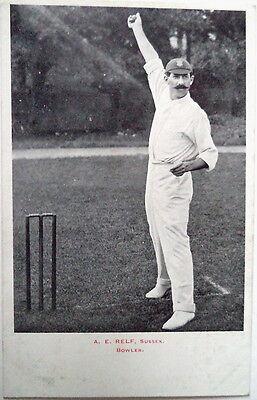 ALBERT RELF ENGLAND TO AUSTRALIA 1903 CRICKET POSTCARD