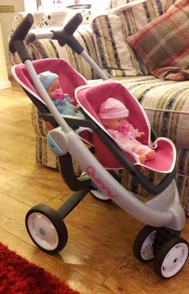 Quinny dolls twin pushchair