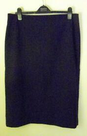 Alexandra Straight Pencil Skirt. Black. Size 18