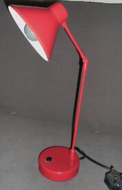 Red Spotlight Adjustable Table Lamp