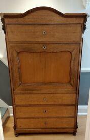 Antique secrétaire oak dresser