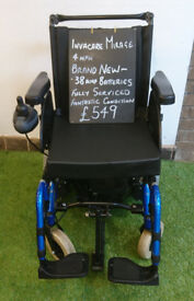 Invacare Mirage Electric Power Chair Fully Serviced Brand New Batteries
