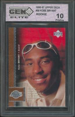 1996 Upper Deck #58 Kobe Bryant RC Rookie Pristine GEM 10